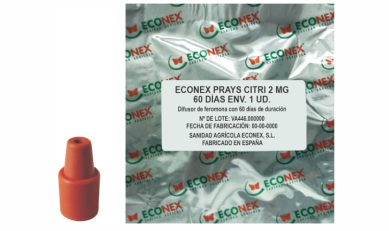 Difusor de feromonas ECONEX PRAYS CITRI 2 MG 60 DÍAS ENV. 1 UD.