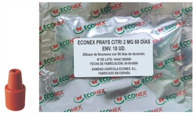 >Difusor de feromonas ECONEX PRAYS CITRI 2 MG 60 DÍAS ENV. 10 UD.